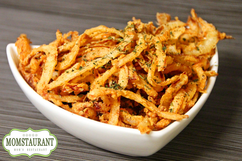 fried french onion strings