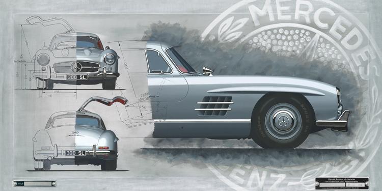 Mercedes Benz 300SL Direct to Media print