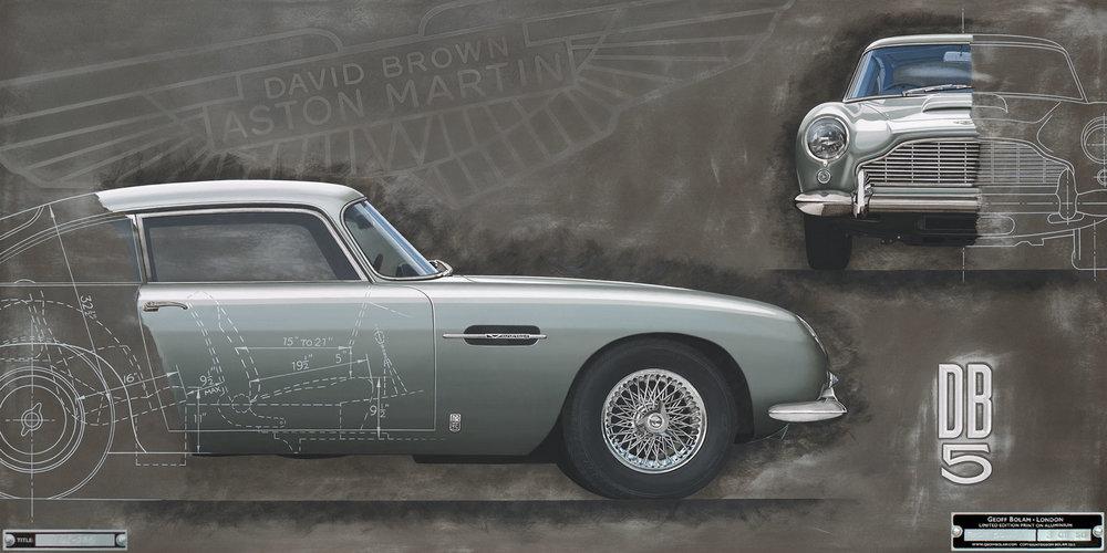Aston Martin DB5 on Aluminium
