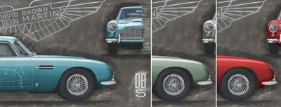 DB5 prints produced in Caribbean Pearl, California Sage, Fiesta Red.
