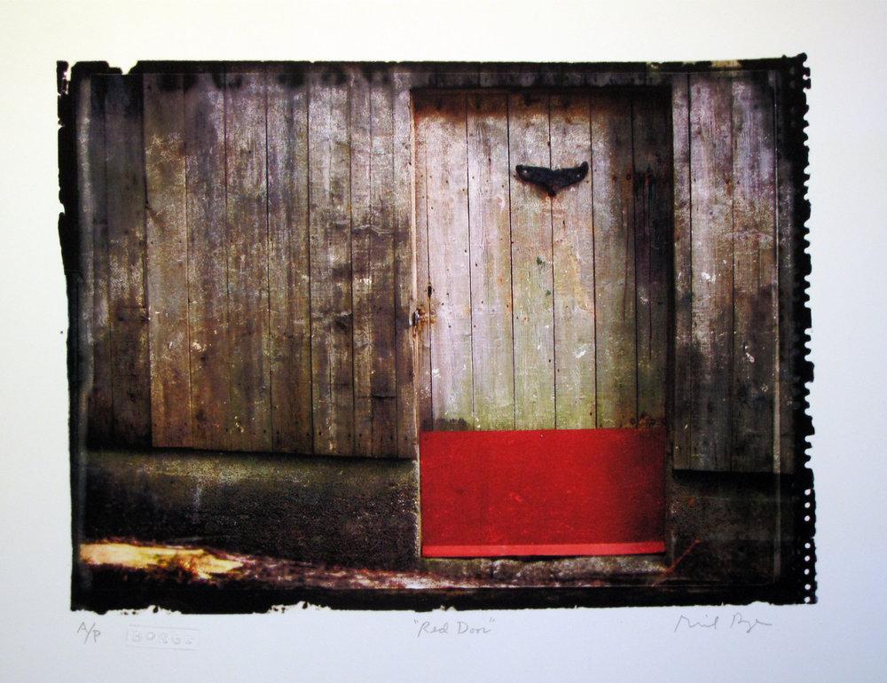 Borge_Richard_01_Red Door_Print_10 x 13 in_Framed.jpg