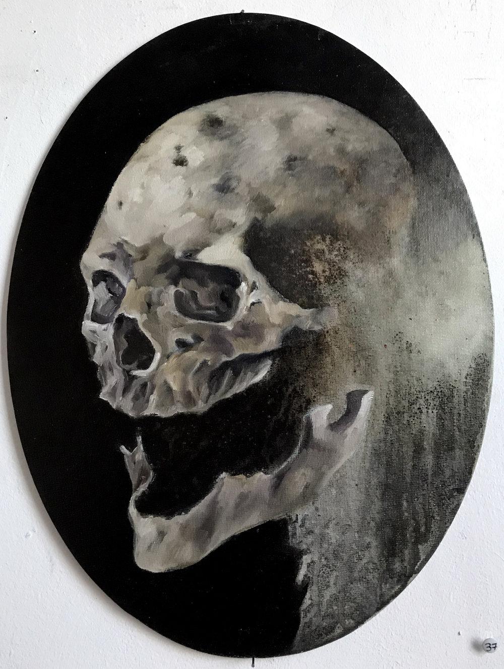 Fragogna_Oval_Skull_Oil on Museum Board_approx 15.5 x 12.jpg