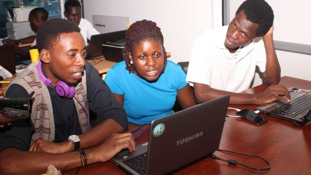 A space for collaborative working called Hive Co-Lab is at the centre of Kampala's tech hub.