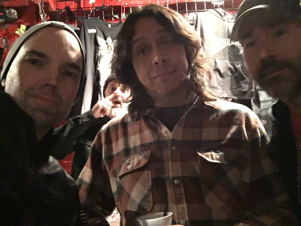 With Mario Rubalcaba from Earthless after our interview. Notice Tour Manager/Merch Dude Xavier Benoit diggin for some serious gold. Drill down brother! Go get the new Earthless album!!!