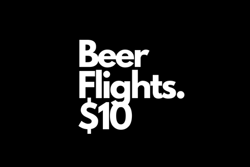life is brewtiful! not sure what beer to have? why not try a few! choose between our Sleeman or Mcauslan flight.