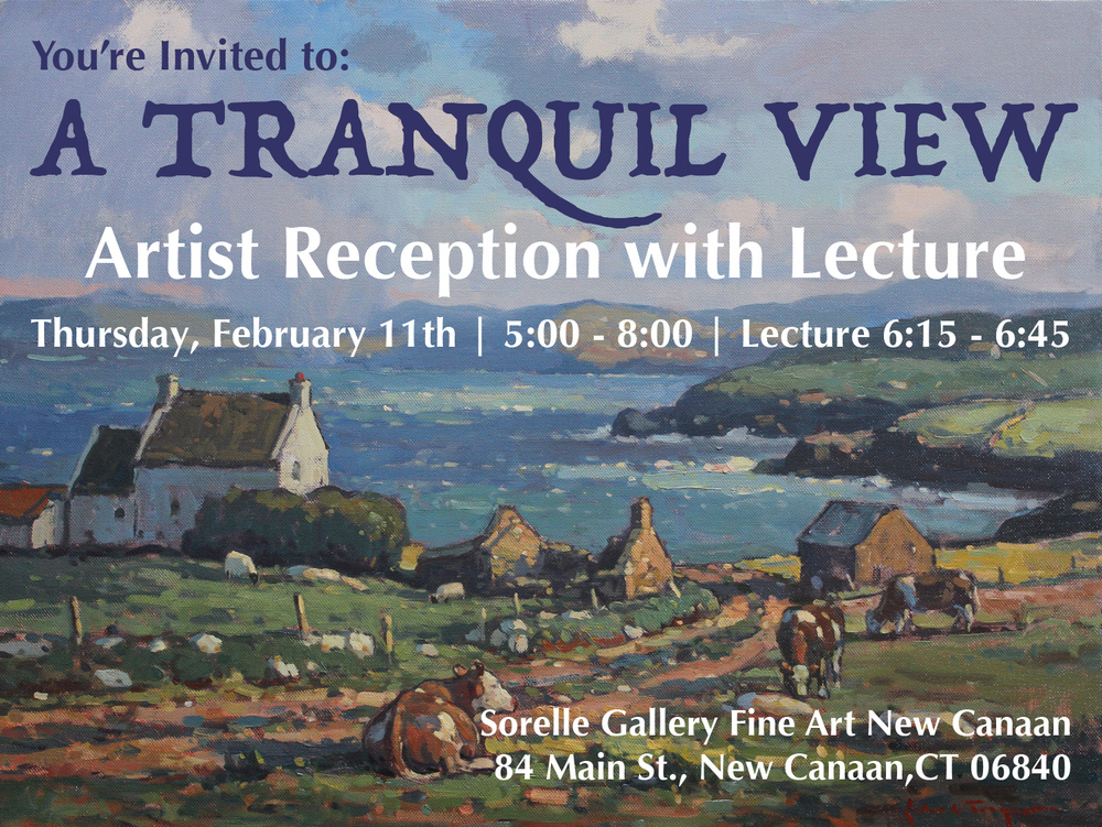Click the postcard to RSVP to A Tranquil View Artist Reception with John C. Traynor at our location in New Canaan, CT.