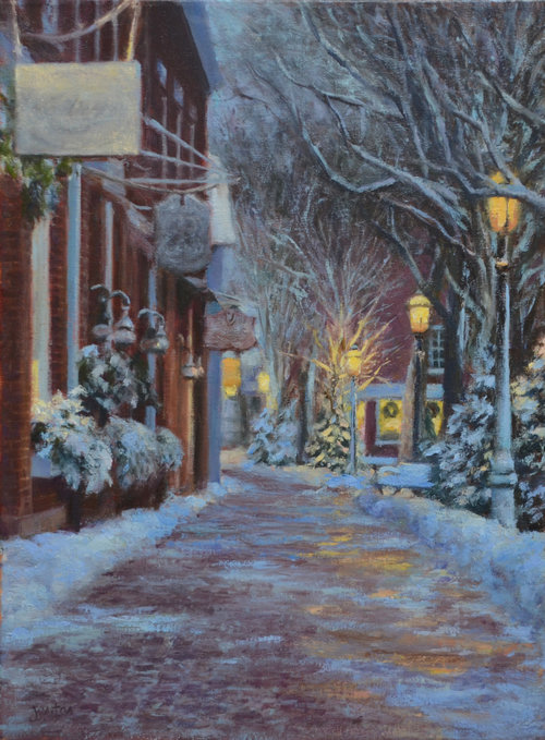 Snowy Eve in Nantucket by Susan Jositas