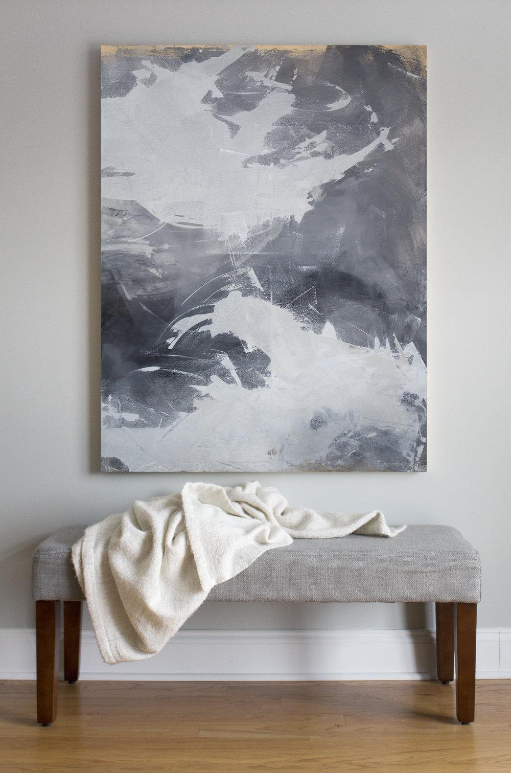 DARK SWAN NO.1 by Julia Contacessi  $3,500.00  (2016) Acrylic  SKU: JC 240 | 48 x 36