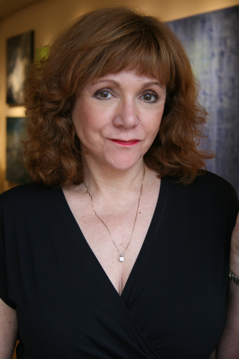 Gallery owner Sandra Pelletier at Sorelle Gallery, New Canaan.
