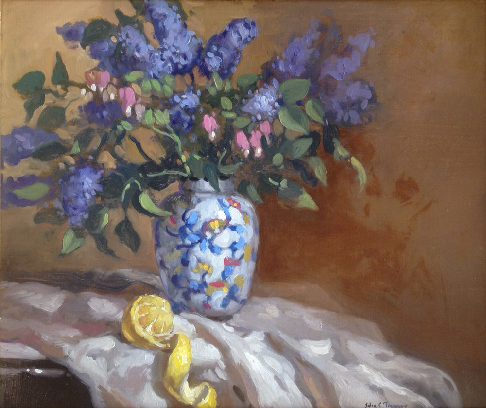 Lilacs by John C. Traynor (20 x 24) Oil on Canvas