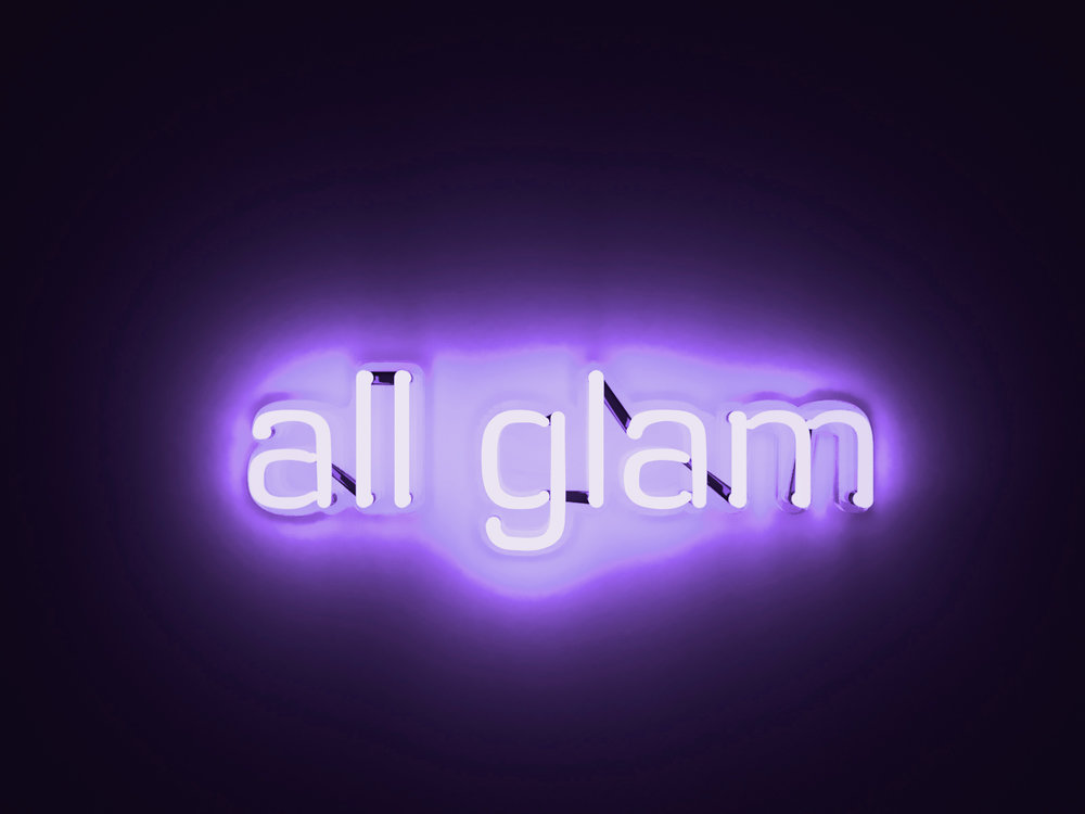 All Glam by Mary Jo McGonalge (28 x 13 x 3) Neon Light