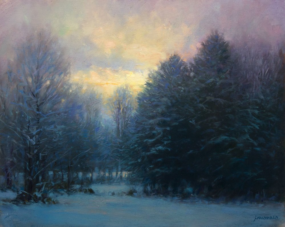 December Serenity by John MacDonald (16 x 20) Oil on Linen
