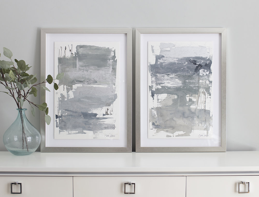 """Silver Washed Sand No. 1"" and ""Silver Washed Sand No. 2"" by Julia Contacessi"