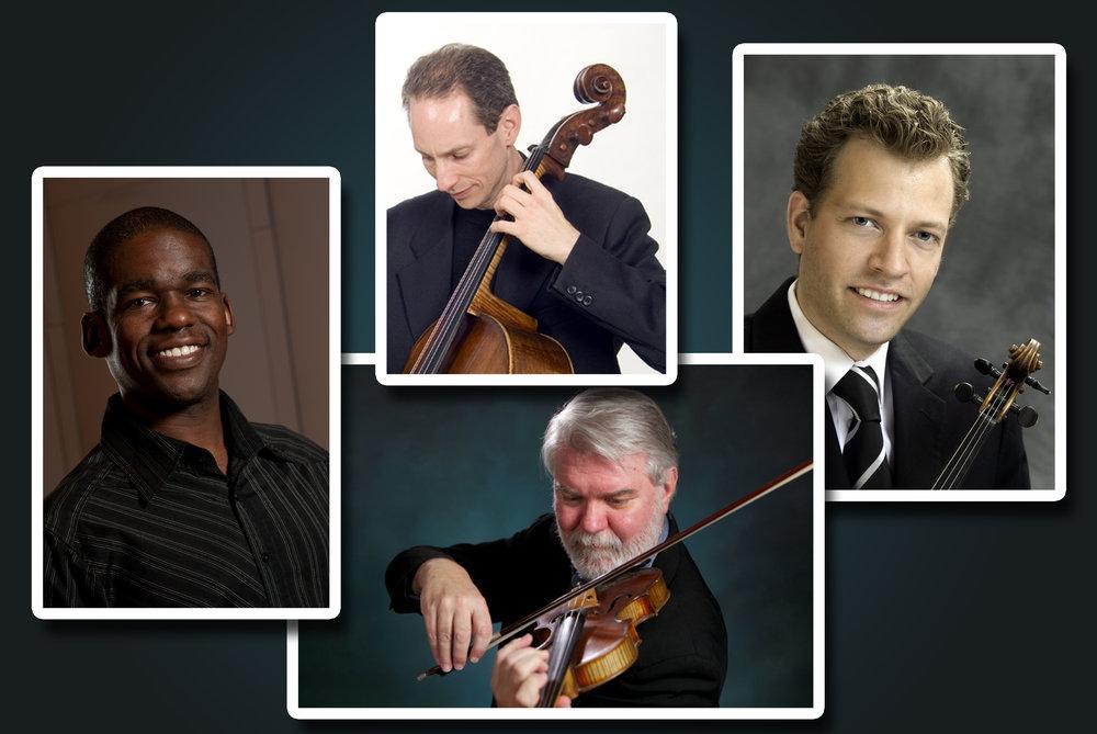 (from top) Kurt Fowler, Austin Hartman, Davis Brooks and Derek Reeves