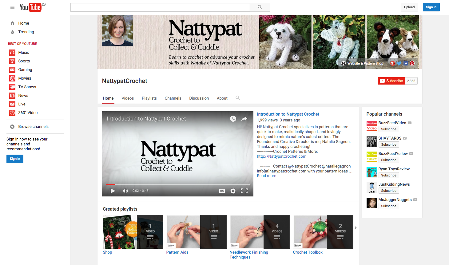 When In Doubt Youtube It Nattypat Crochet