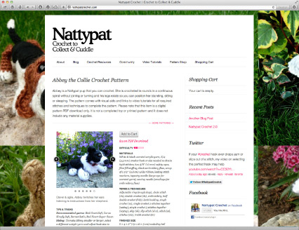 The old NattypatCrochet.com.