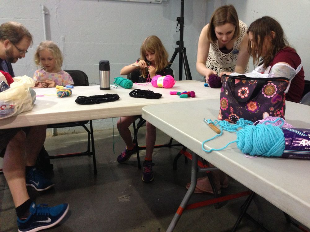 The Crochet for Kids workshop.