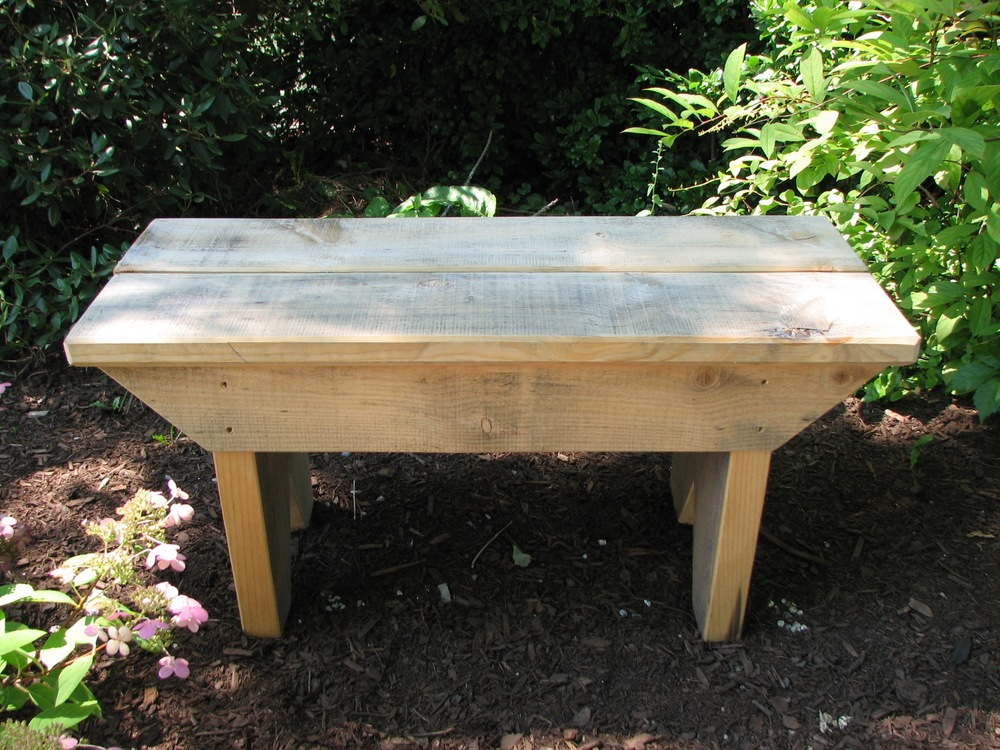 rustic benches for garden and home.