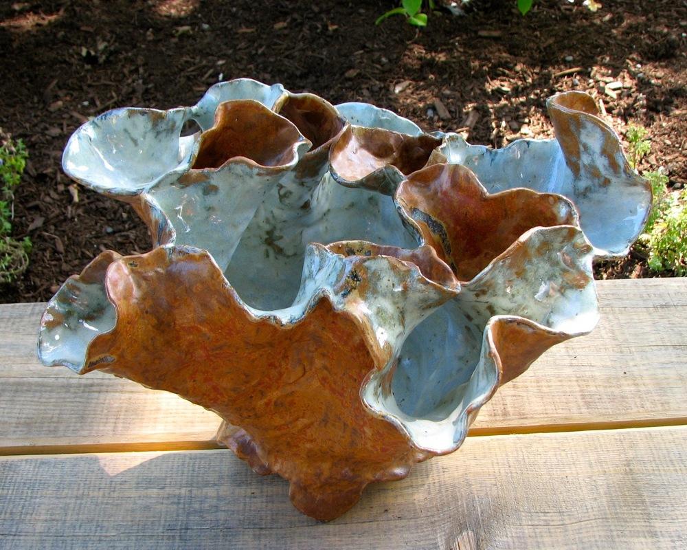 Fluted Vase by ceramic artist John Fazzino