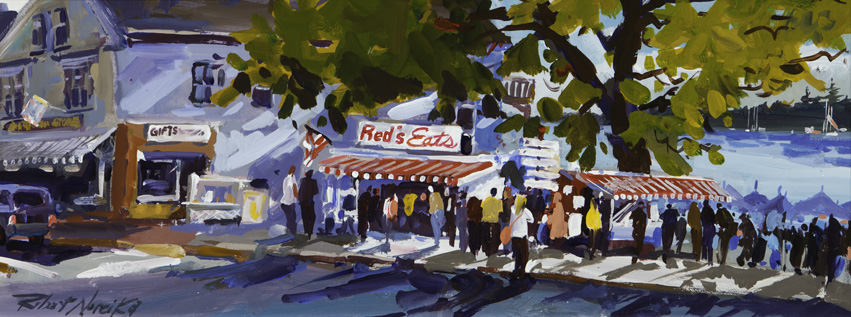 Red's Eats by Robert Noreika. The artist is represented by Sylvan Gallery, Wiscasset, Maine.