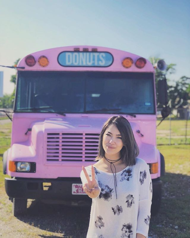We went exploring today and I found my new car. 🚌 🍩 #donuts . . . . . #glazed #dallas #dallasfood #instadfw #cedars #dallascoffee #fullcityrooster