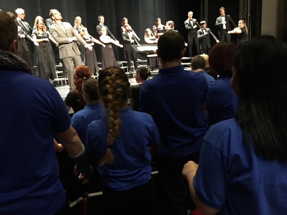West observes Dr. Leese and Keene Choirs.jpg