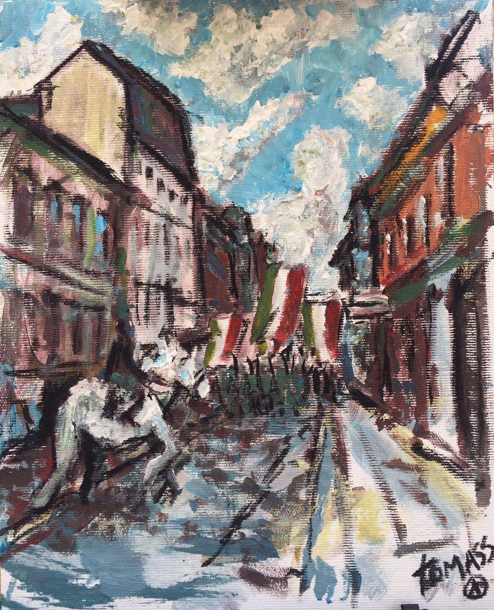 vas utca painting
