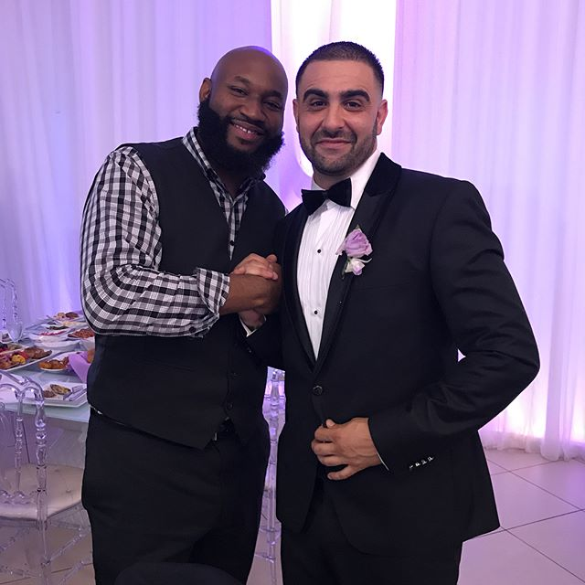 Congrats to my brother Dizaster and his beautiful bride Cecilia on their union! We had a great time fam!!! 🙌🏾🙌🏾