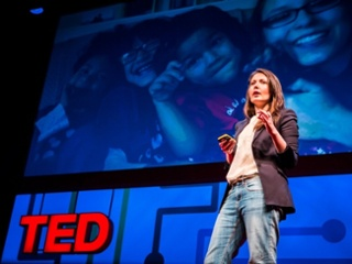 Yana Buhrer Tavanier is one of countless speakers at the globally renowned TED talks who uses visual storytelling to enhance her presentation, adding impact with emotional context and a narrative structure to drive her points home. Credit for the photo:    http://www.techinsider.io/yana-buhrer-tavanier-human-rights-art-2015-9