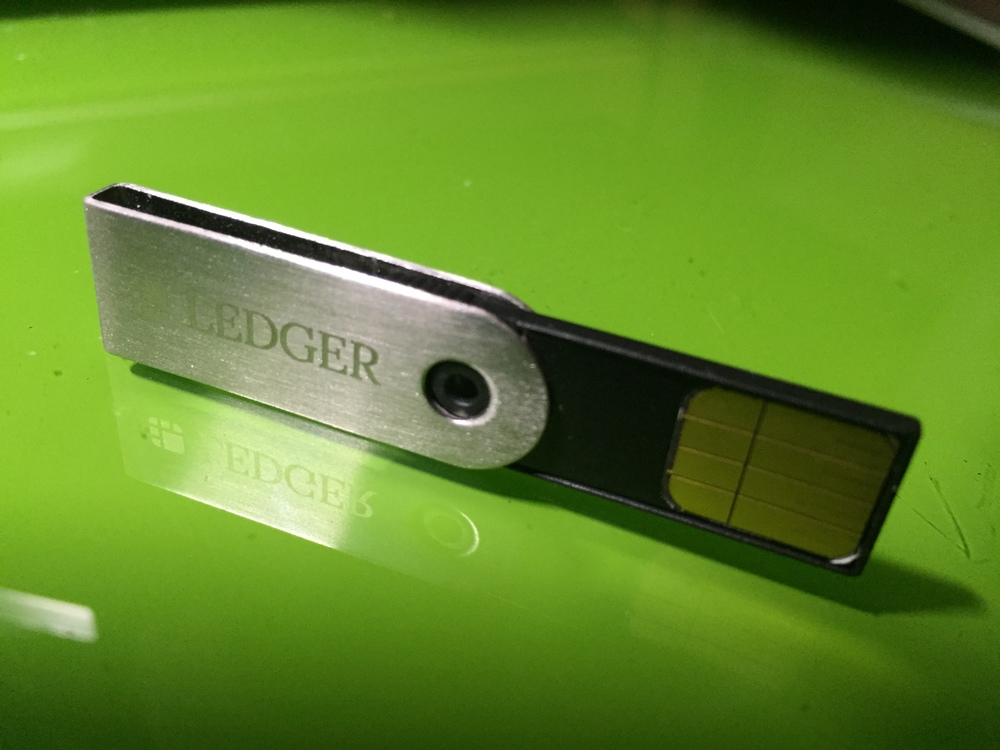 Ledger Wallet Nano USB drive