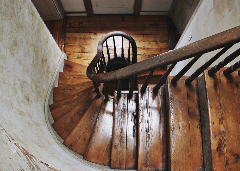 Old spiral staircase - Portland, Maine