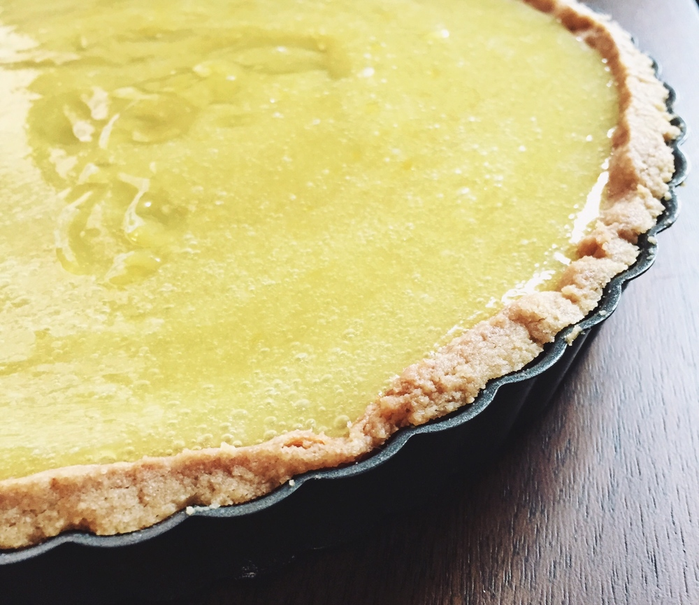 Lemon curd tart - Ina Garten via The Pastiche Blog