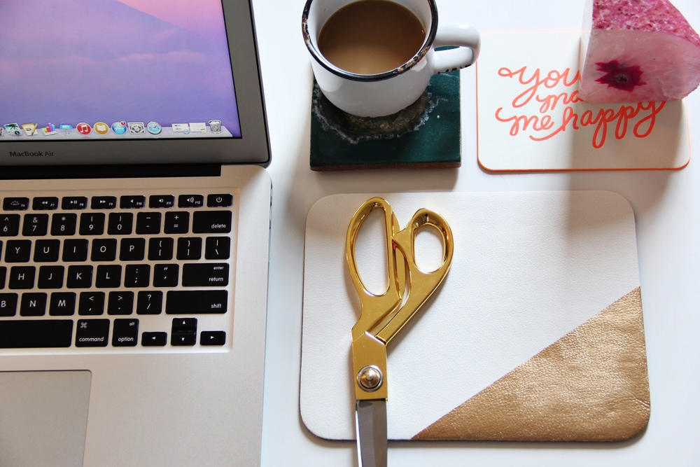 DIY gold leaf mousepad - The Pastiche