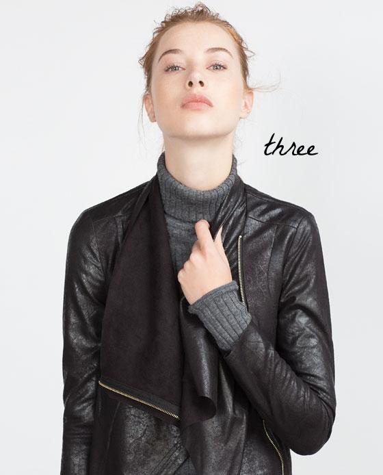 Faux suede overshirt - Zara