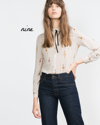 Printed blouse - Zara
