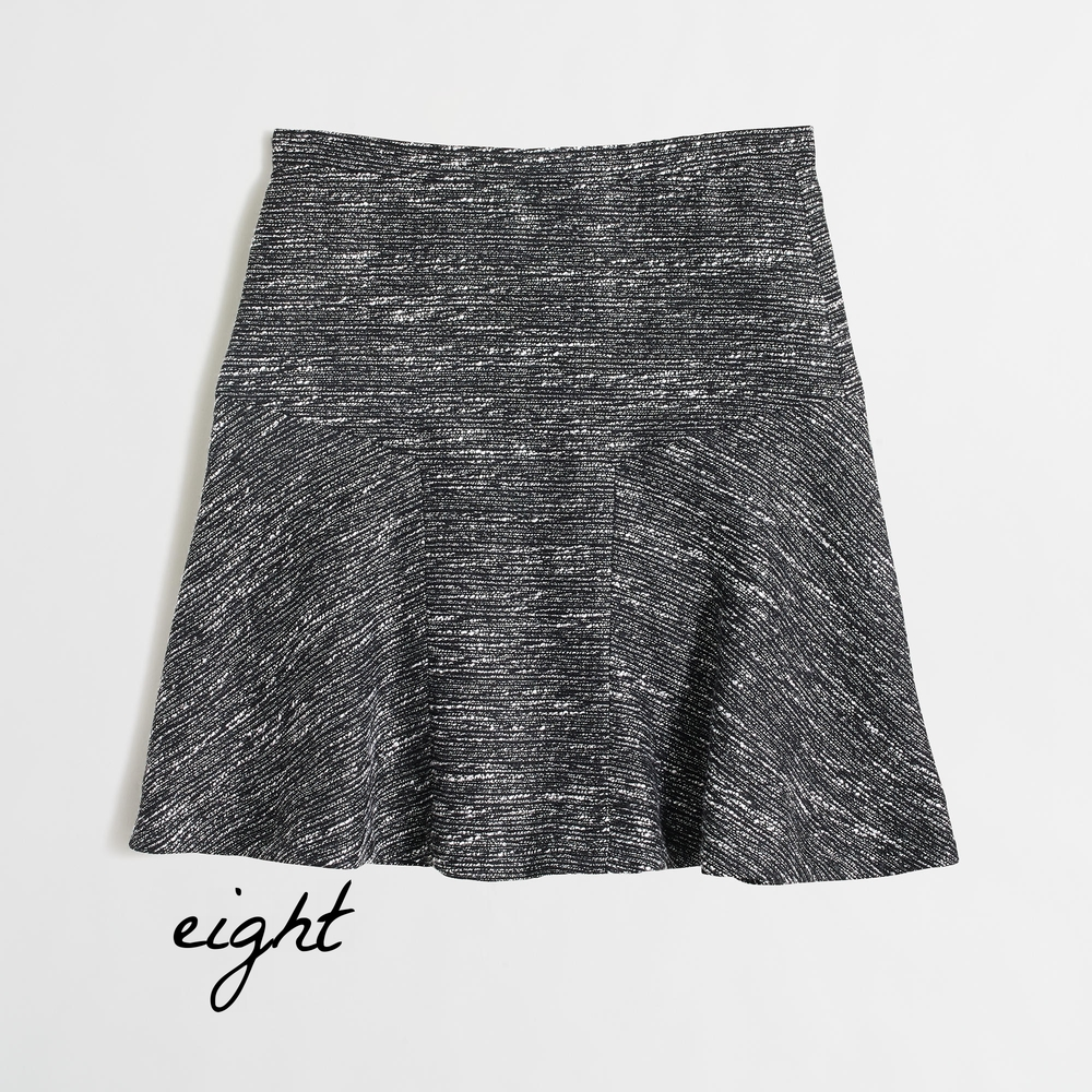 Flared skirt in tweed - J.Crew Factory