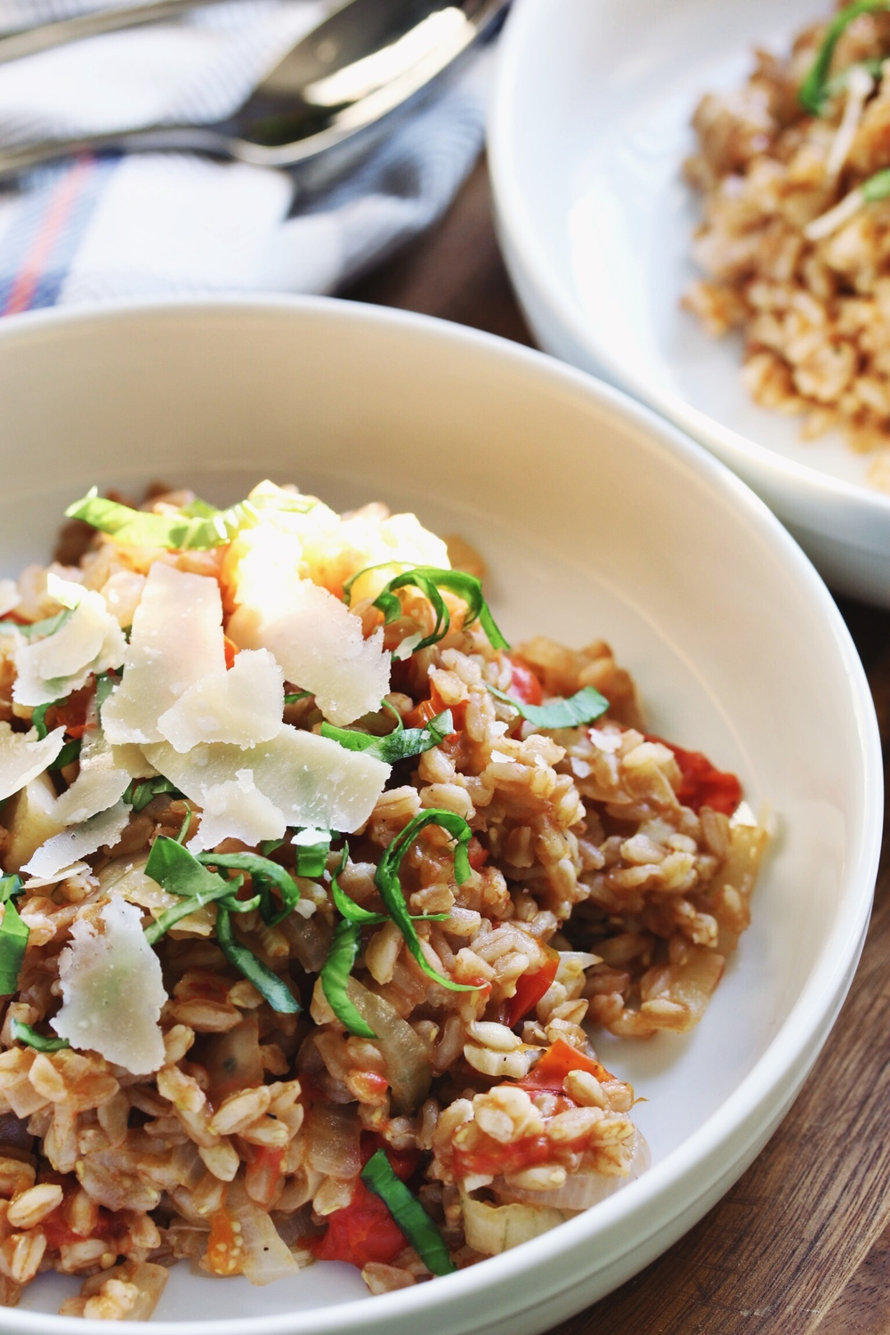 One-pot farro with tomatoes from Smitten Kitchen - The Pastiche