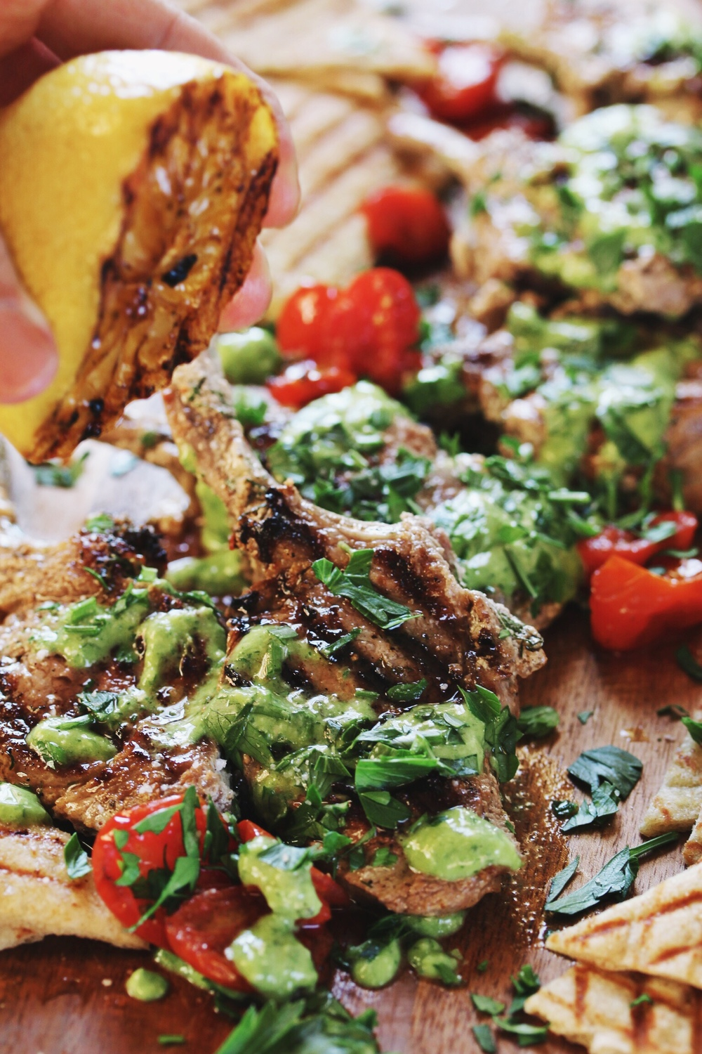 Greek lamb lollipops with perfect hummus - The Pastiche
