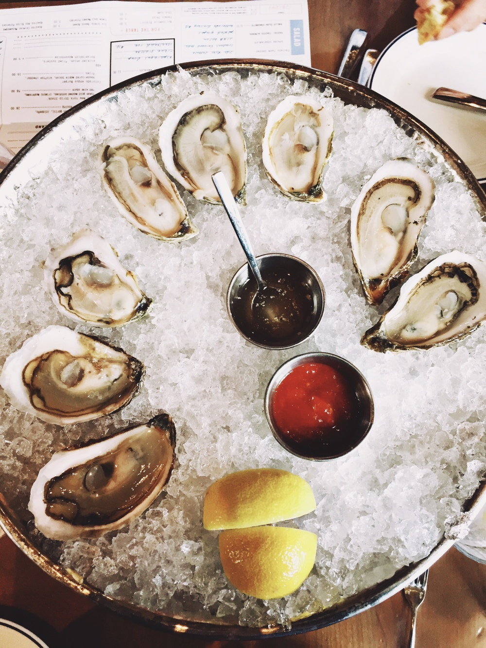 Oysters at Island Creek Oyster Bar - Boston