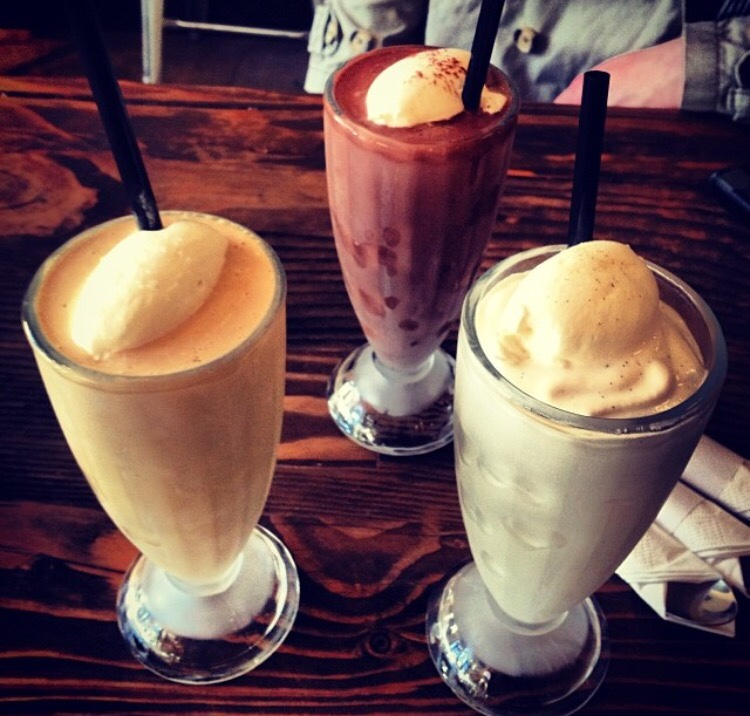 Milk shakes at Hot Cakes - Seattle