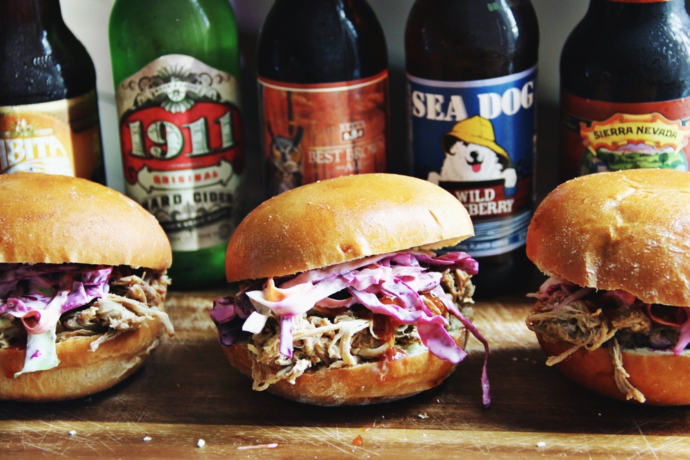 Slow braised pulled pork sandwiches and tailgating- The Pastiche