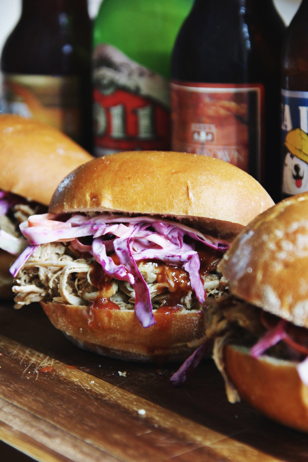 Slow braised pulled pork sandwiches and tailgating - The Pastiche