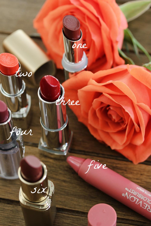 Round-up: drugstore lipsticks - The Pastiche