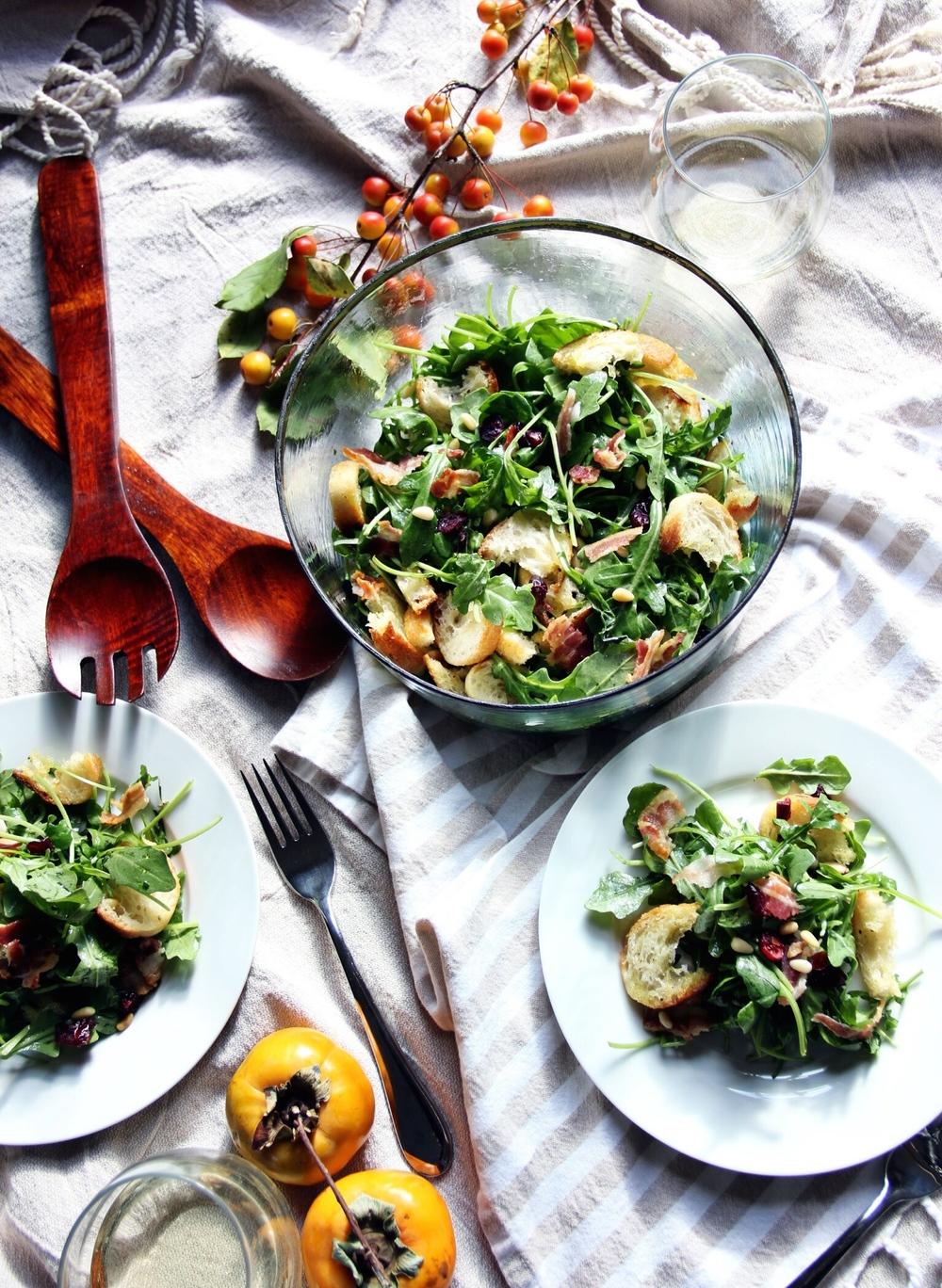 Autumn panzanella salad - The Pastiche