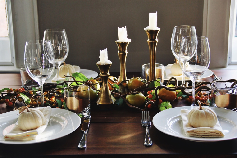 Thanksgiving tablescape - The Pastiche