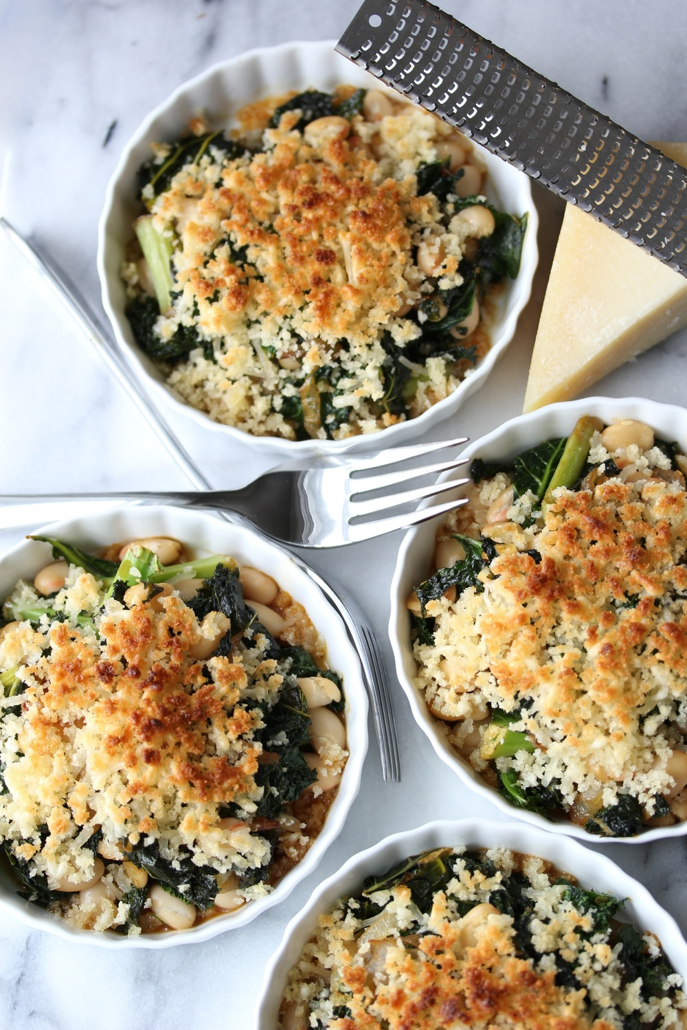 Greens and beans gratin - The Pastiche