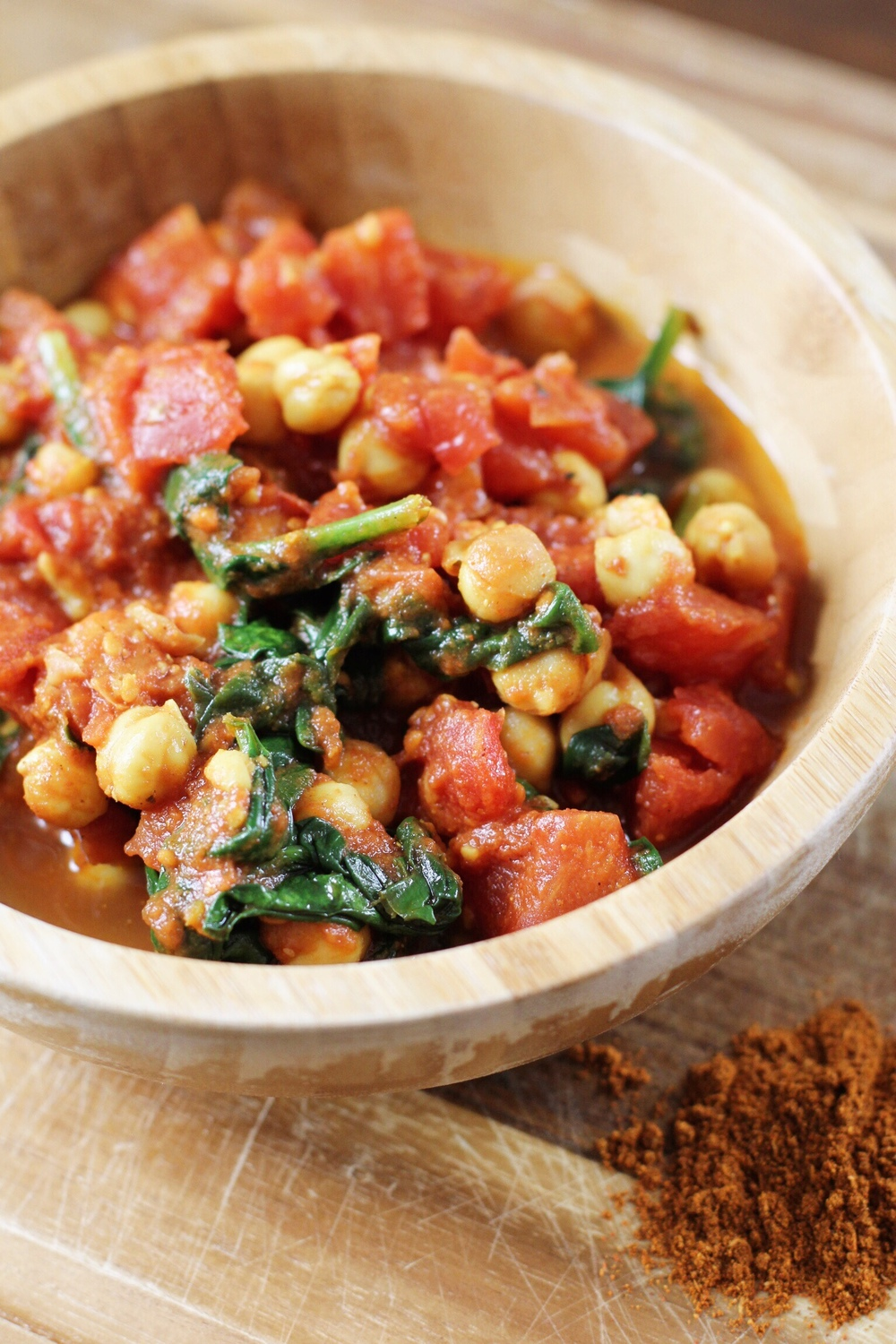 Quick Moroccan tomatoes and chickpeas - The Pastiche