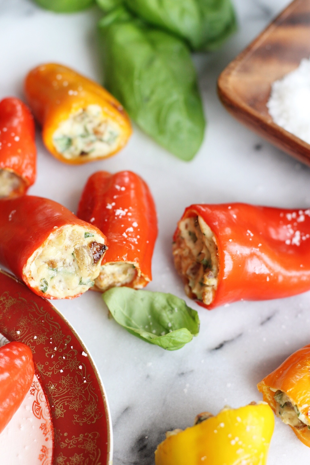 Italian stuffed peppers with gorgonzola and caramelized onions - The Pastiche