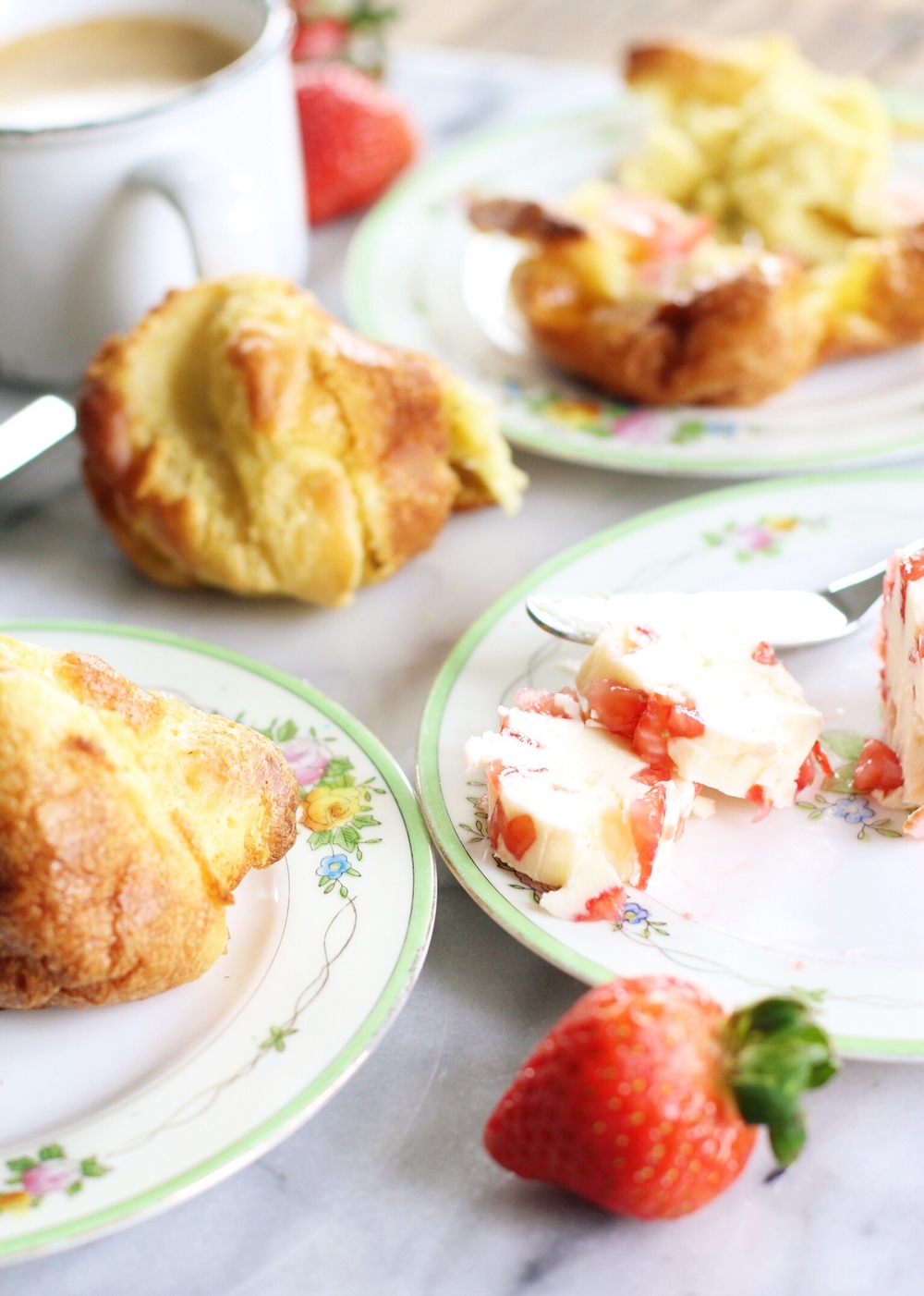 Popovers with strawberry butter - The Pastiche