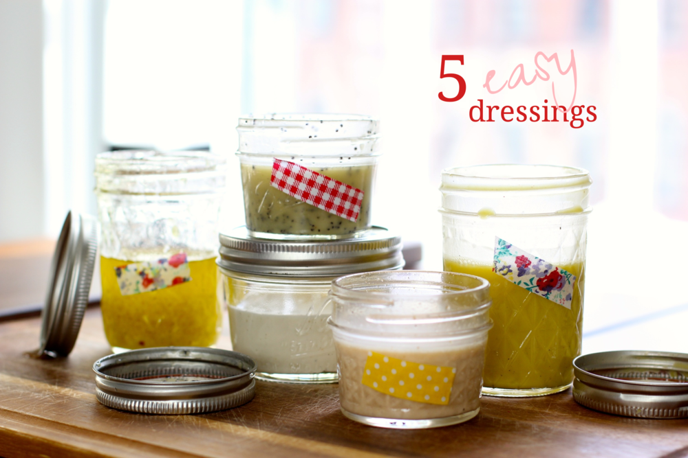 Five easy salad dressings - The Pastiche